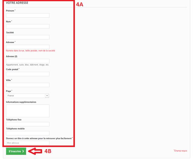 Etape 4 - Comment créer un compte client ?