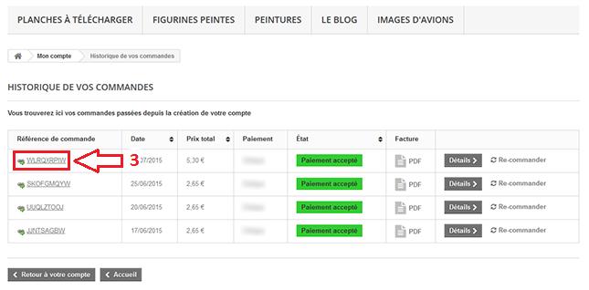 Etape 3 - Comment télécharger un packserie depuis son compte client ?