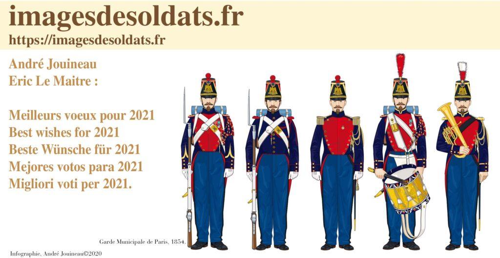 Carte de voeux 2020 Images de Soldats - André Jouineau